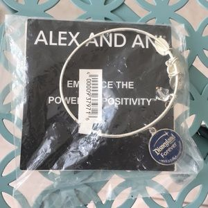 NWT Alex And Ani silver Disneyland bracelet